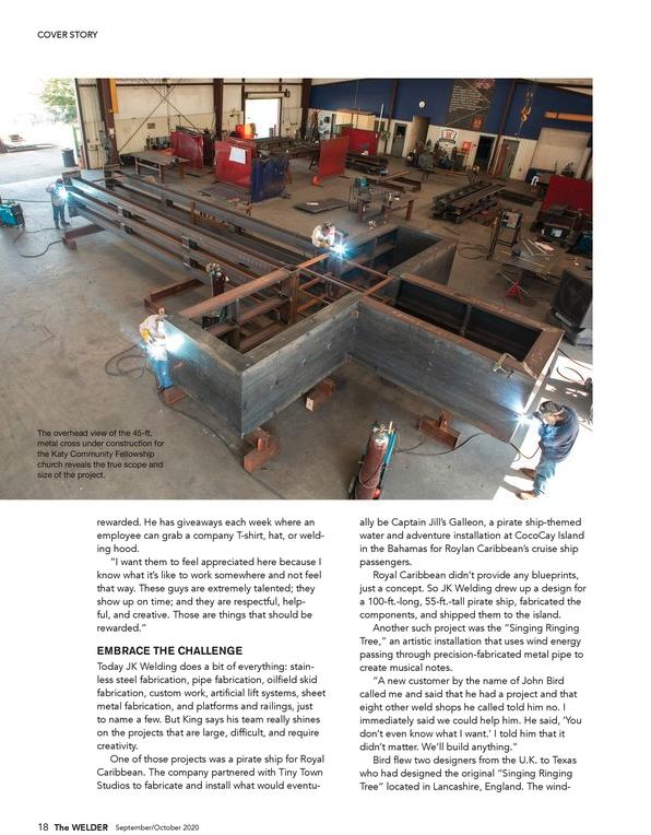 Custom Fabrication in Houston - The WELDER magazine feature on John King of JK Welding