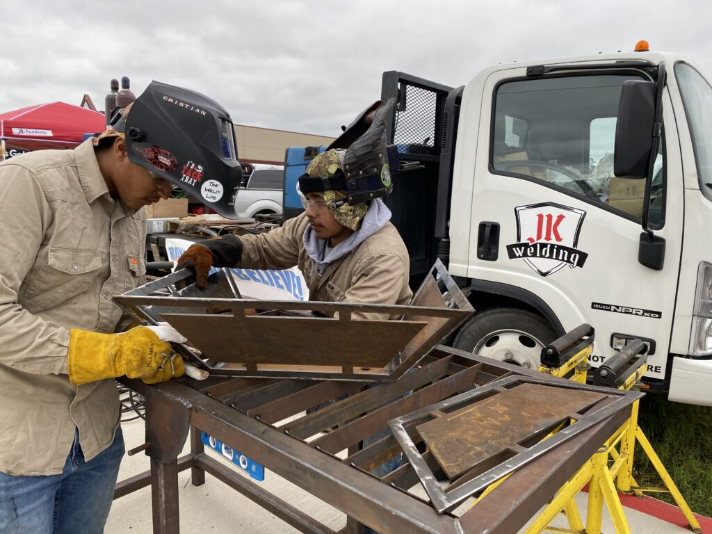 texas ffa - welding competition - fire pit build off