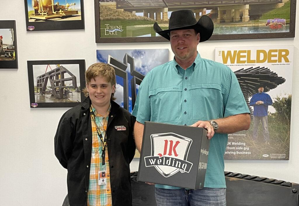 welding students visits with john king of jk welding
