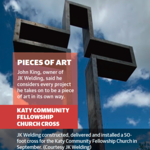 Katy Community Fellowship Church - Cross by JK Welding