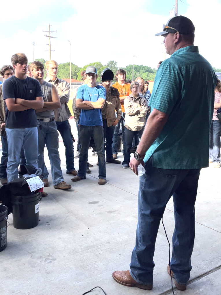 inspirational speech to young welding students